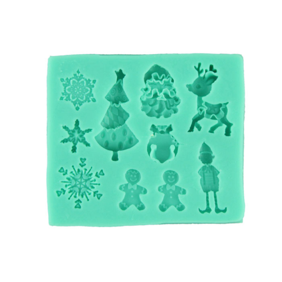 Delicate 3D Christmas Snowflake Silicone Fondant Cake Molds Soap Chocolate Mould Hot Selling(China (Mainland))
