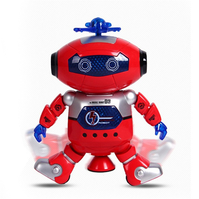 Intelligent Robot 360 Rotating Space Dancing Robot Musical Walk Lighten Electronic Robot Multicolor Christmas Birthday Gift Toys(China (Mainland))