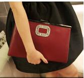 Rhinestone day clutch fashion female bags 2015 female chain envelope clutch bag brief(China (Mainland))