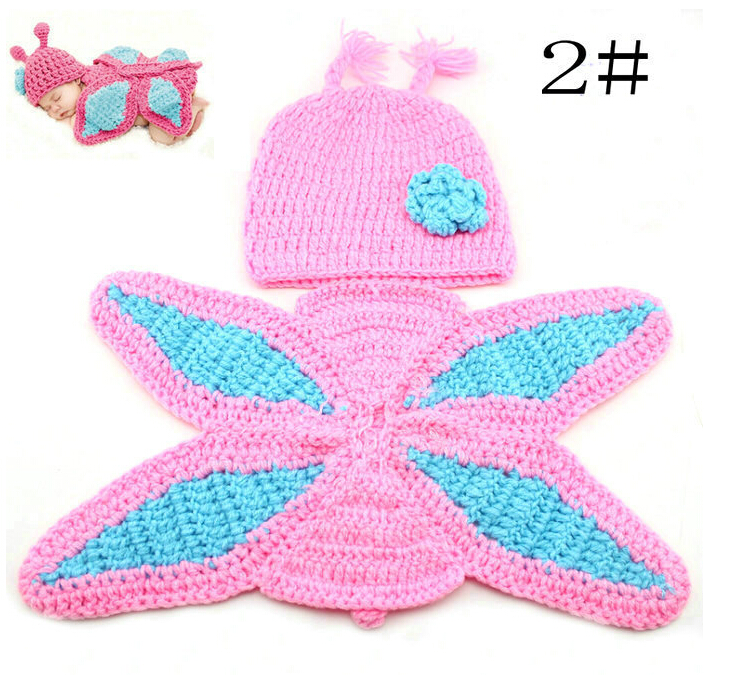 Handmade Children Baby Girl Hat Crochet Winter Newborn Photography Props Butterfly Costume Knitted Baby   Crochet Outfits<br><br>Aliexpress
