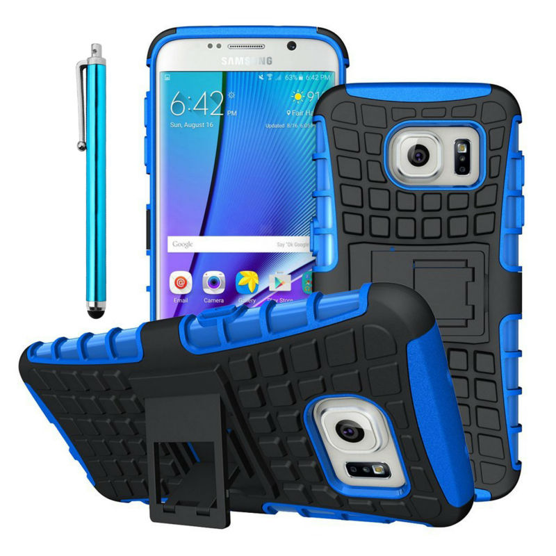 For Samsung Galaxy S7 Edge S7 Tough Rugged Dual Layer Plastic Impact Defender Case Cover with Kickstand for Galaxy A3 A5 A7 2016(China (Mainland))