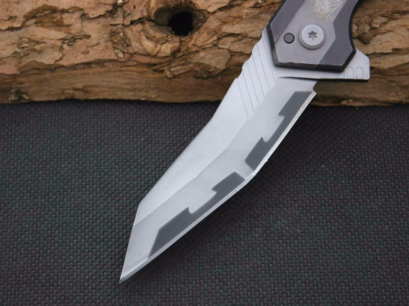 Buy New Survival Knife 440C Steel Blade Steel Handle SR Pocket Folding Knifes Hunting Tactical Knives Camping Outdoor EDC Tools Y47 cheap
