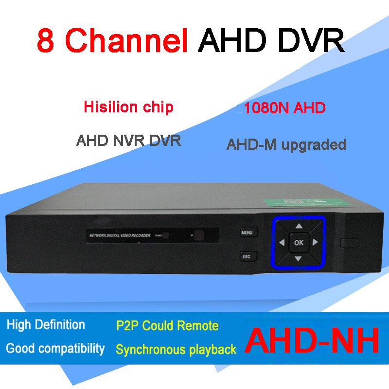 Blu-ray Exterior Dvr 8 Channel Three  in One  8CH 1080P/ 720P/ 960H/D1 AHD DVR FreeShipping<br><br>Aliexpress
