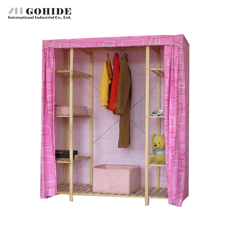Gohide Savoring Home Large Solid Wood Wardrobe Eco-Friendly Cloth Wardrobe Mr32c 755c Storage Coat Hangers Lockers(China (Mainland))