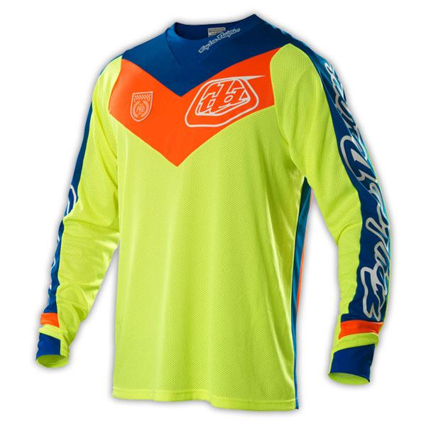 Hot!Free shipping!2016 Brand Designs TLD SE Pro Jersey Corse Flo Yellow MX MTB Mountain moto T-shirt Downhill Moto Jerseys(China (Mainland))