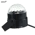 ZINUO Voice Control Mini RGB LED Crystal Magic Ball Stage Lighting Effect Lamp Bulb Party Disco