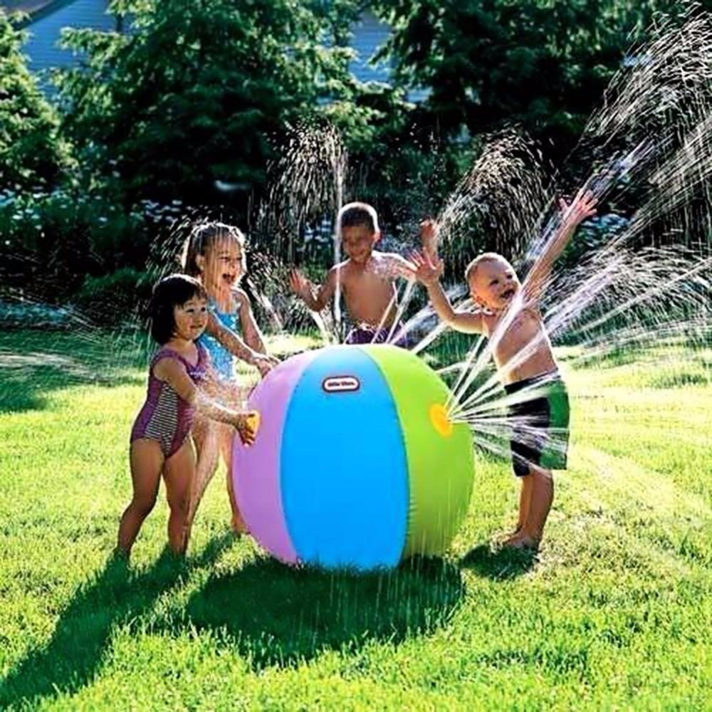 Inflatable Water Spray Ball Summer Outdoor Beach Swimming Pool Play Lawn Balls Party Sprinkler Toys For Children Kid(China (Mainland))