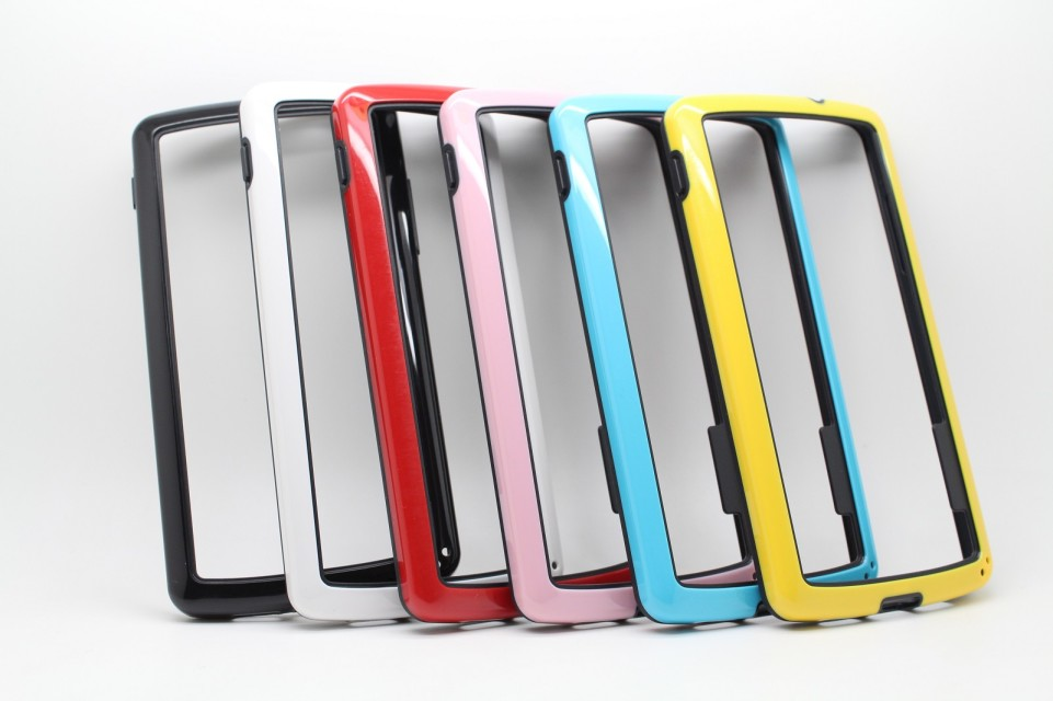 candy colors case PC TPU Gel soft border bumper for LG Nexus 5 E980 D820 2 in 1 protective frame cover soft pouch(China (Mainland))