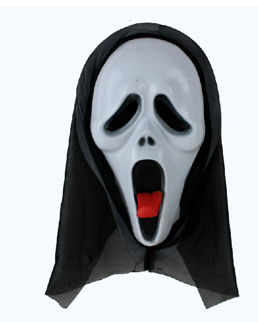 Qian qi fang Halloween mask props as their Halloween on their terror monolithic devil mask screaming skull free shipping(China (Mainland))