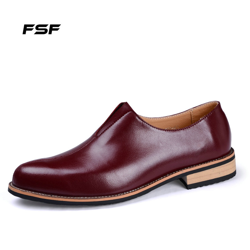 FSF 2015 Leather Men Shoes Fashion British Oxford shoes Men, Lace-Up Dress Shoes,Top Business 725