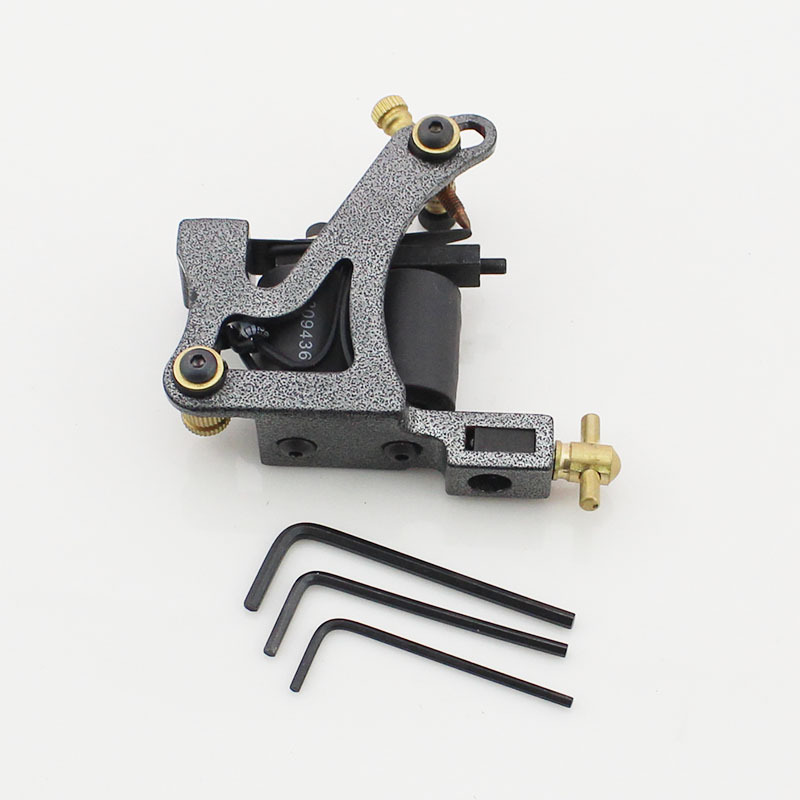 Commemorative Edition Wholesale Price JOHNNY IRONS Tattoo Machines 28mm 47uF 10 Wraps Coils Tattoo Gun For Shader Free Shipping