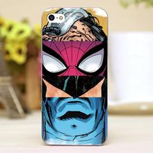 For mavel hero comic puzzle Design transparent case cover cell mobile phone cases for Apple iphone 4 4s 5 5c 5s hard shell