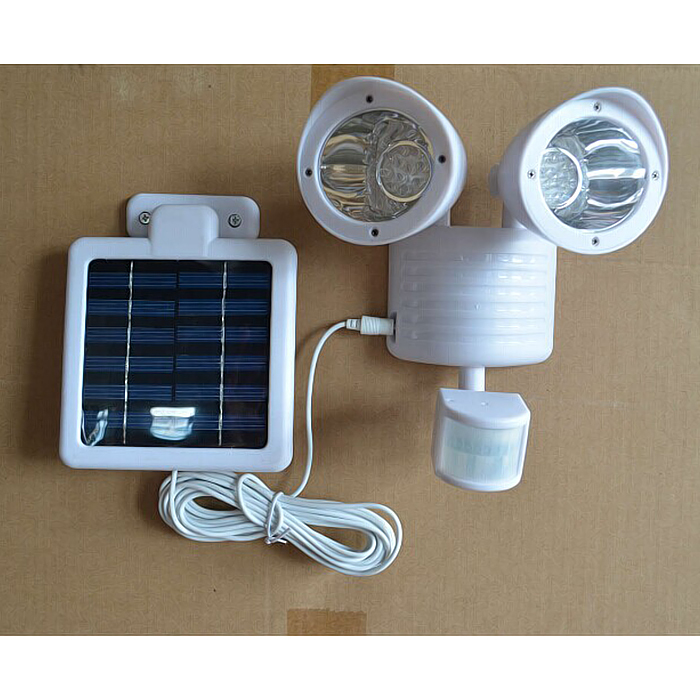 Solar Wall Mounted Lamp With Motion Detector : 22 LED wall mounted Motion Sensor light Solar outdoor PIR sensor Light garden wall sensor solar ...