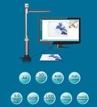 Portable Scanner Video Presenter Monitor Camera HD 1080P 5.0MP 2 Cameras 5.0MP Main Camera 2.0MP Vice Camera DHL/EMS Free Drop(China (Mainland))