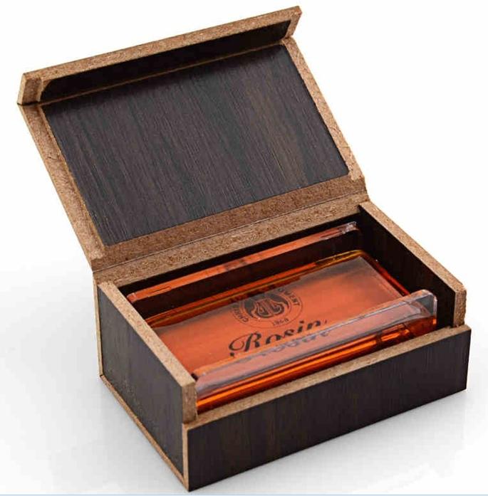 High Quantity Transparent violin rosin dedicated violin accessory parts violin violino with Wooden Box<br><br>Aliexpress