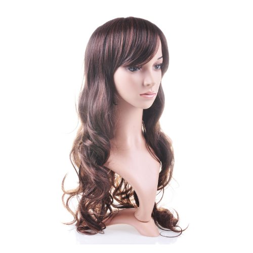 Гаджет  PHFU,Taobaopit Beautiful Brown Curly Long Hair Wig Human Health None Изготовление под заказ