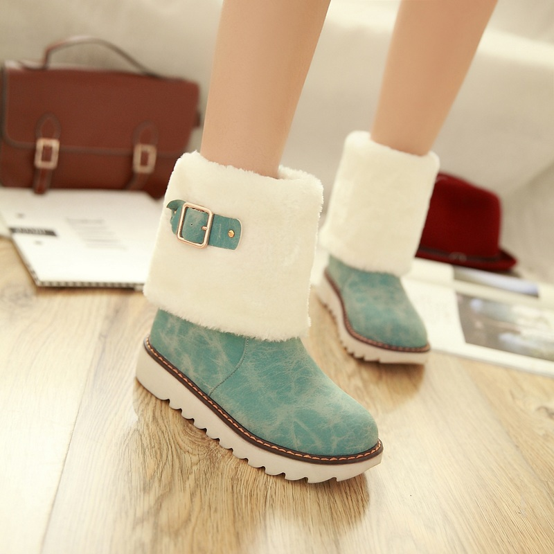 2015 Winter Autumn New Fashion Buckle Slip-on Ankle boots Patchwork Feathers Round Toe Boots Comfor Ankle Shoes Size 34-39 R594<br><br>Aliexpress