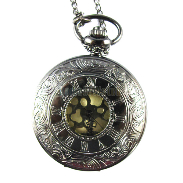 Silver and copper-colored Bronze alloy Shell displays a digital ID quartz pocket watch (NBW0PO7804-CW3)(China (Mainland))