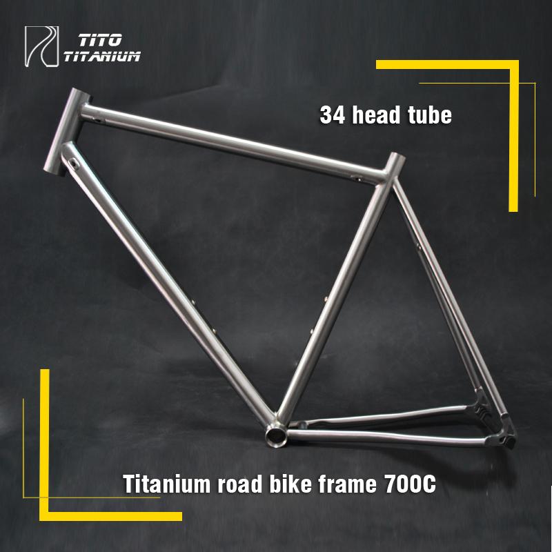 Free shipping !!! TiTo titanium road bike frame 700C titanium road bicycle internal shifter housing(China (Mainland))