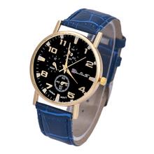 Excellent Quality Top Luxury Business Watches Men s Fashion Sport Quartz Clock Leather Strap Wristwatches Relogio