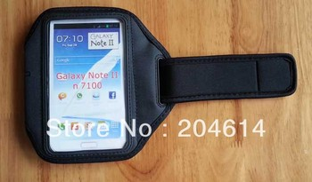 Free Shipping Arm Band Sport Bag 5Colors Available Case Pouch for Note II N7100 N7108 N7102  500pcs