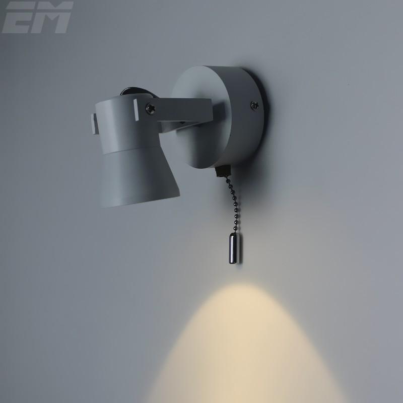 2pcs Per Lot Brief Desgin Bathroom Led Mirror Light 100*70*120mm Aluminum Adjustable Head 3W Bedroom Wall Lights With Switch<br><br>Aliexpress