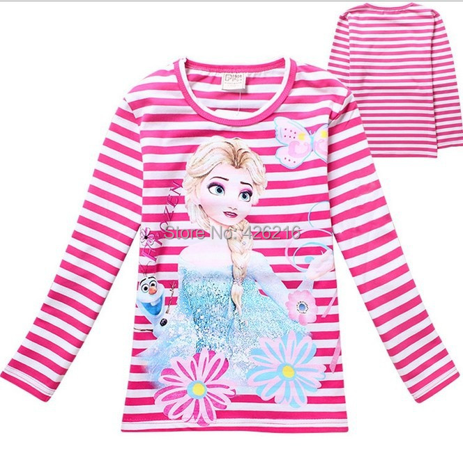 Wholesale lot cartoon characters t shirts for girls frozen for Wholesale children s t shirts