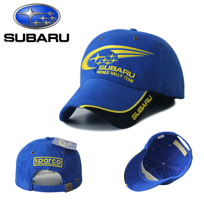 Outdoor SUBARU Baseball Caps F1 Racing 5 Panel Snapback Hats Cotton Sports Motorcycle Gorras Planas Visors Sun Hat Blue(China (Mainland))