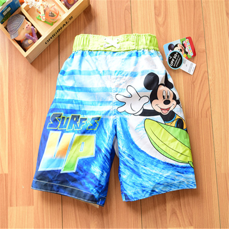 kids\childrens\baby\enfant\ninas uv protection brand mickey banadores surf\casual\swim\beach\board shorts for boys\garcon\chico(China (Mainland))