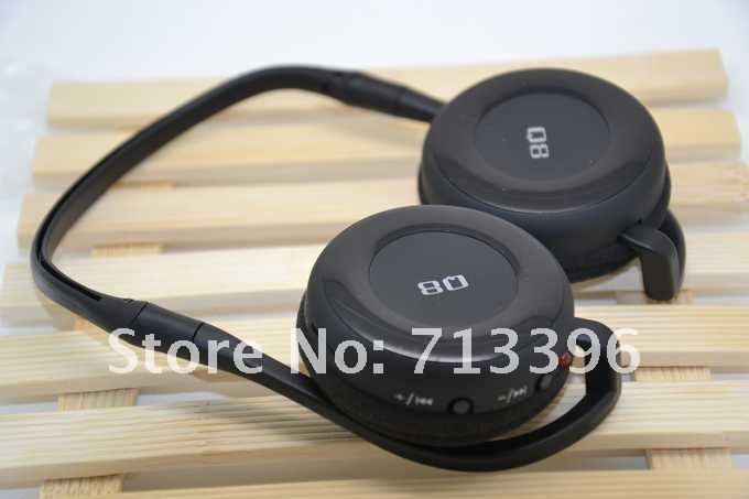 Wireless mp3 player have Built-in rechargeable Li-ion battery have FM like headphone shape very good(China (Mainland))