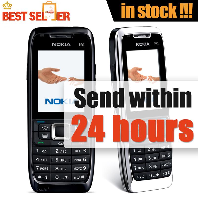 Original phone Nokia E51 Cheap phone Unlocked GSM 3G Wifi Bluetooth Camera FreeShipping(China (Mainland))