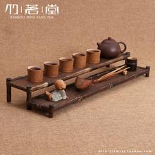 Bamboo shelf bamboo tea with zero storage Kung Fu tea cup holder saucer cup holder Chapeng wood coaster