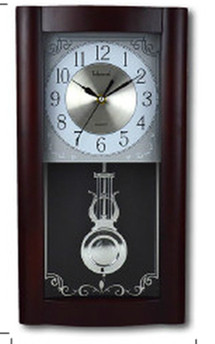 Classical european-style wooden craft wall clock, hour function, time to the music with swing wall clock.(China (Mainland))