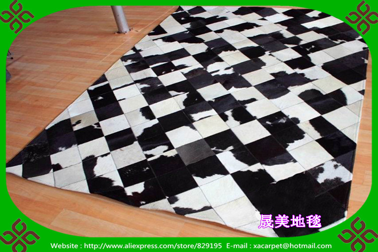 Free shipping 100% natural genuine cowhide carpet buyers(China (Mainland))