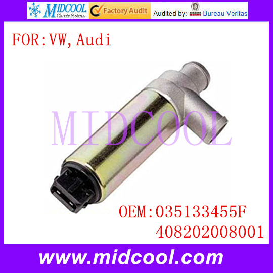 New Auto IAC Idle Air Control Valve use OE NO. 035133455F , 408202008001 for VW Jetta Golf Audi 80 90 100 200(China (Mainland))