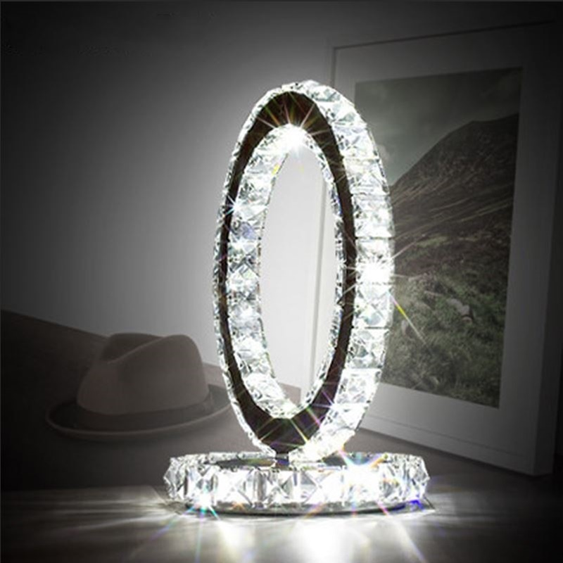 18W LED Modern Luxury Crystal Decorative Table Lamp For Living Room Bedroom Study Room Hotel Villa Store; LED Table Light 1847(China (Mainland))