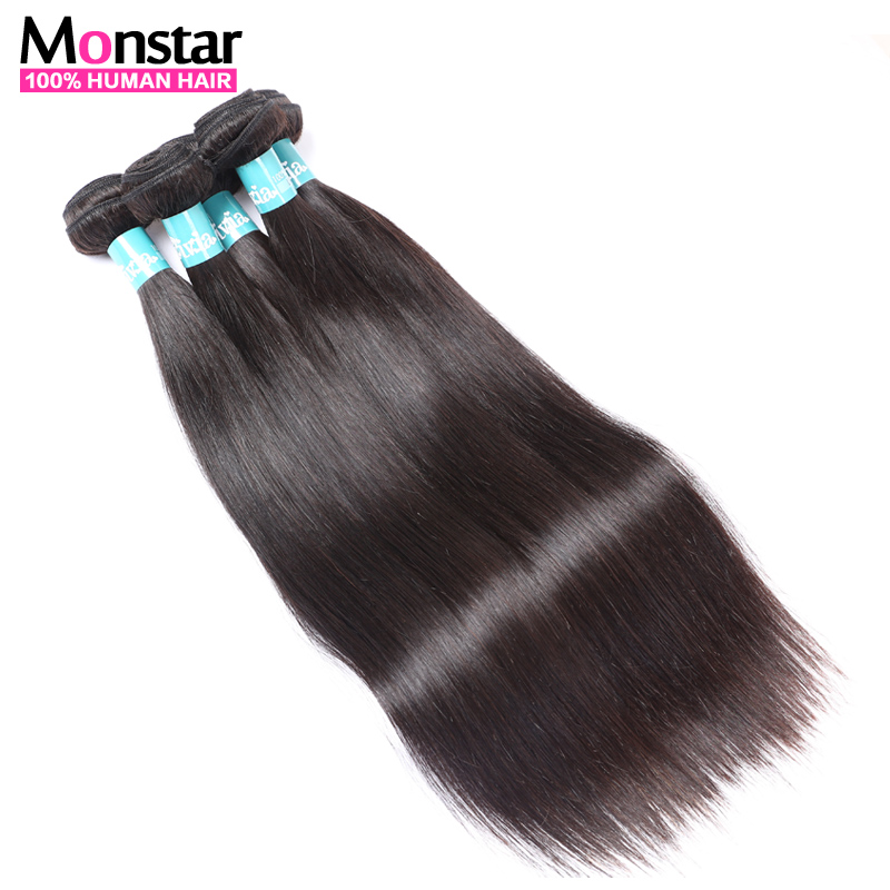Brazilian Virgin Hair Straight 3Pcs Lot 7A Unprocessed Virgin Brazilian Hair Weave Bundles Remy Hair 100% brazilian virgin hair(China (Mainland))