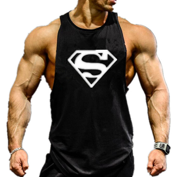 Superman gym clothing bodybuilding and fitness men tank Fitness shirts for men