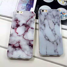 Custom Made marble Rock Smooth Surface Plastic Soft Back Cover Skin Case For iphone6s 6 plus