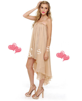 2015 semi formal dress sale shipping clubwear guest modest for Hi lo dress wedding guest