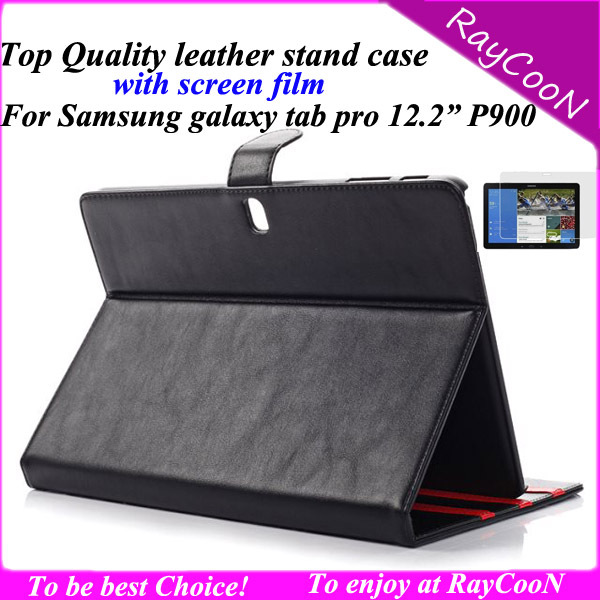 Screen protector + Stylish PU Leather stand Case For Samsung galaxy tab pro 12.2 P900,Sweety PU leather stand cover,8 color<br><br>Aliexpress