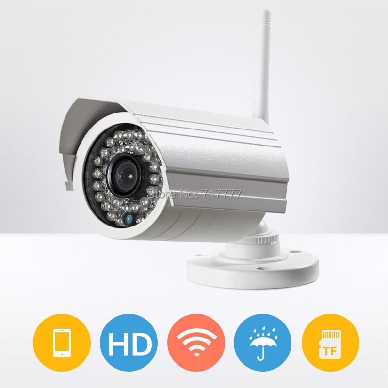 1.3 meagapixel 1/3 AR0130 low lux CMOS WIFI waterproof motion detection ip camera with TF card outdoor auto Ir-cut  p2p camera<br><br>Aliexpress