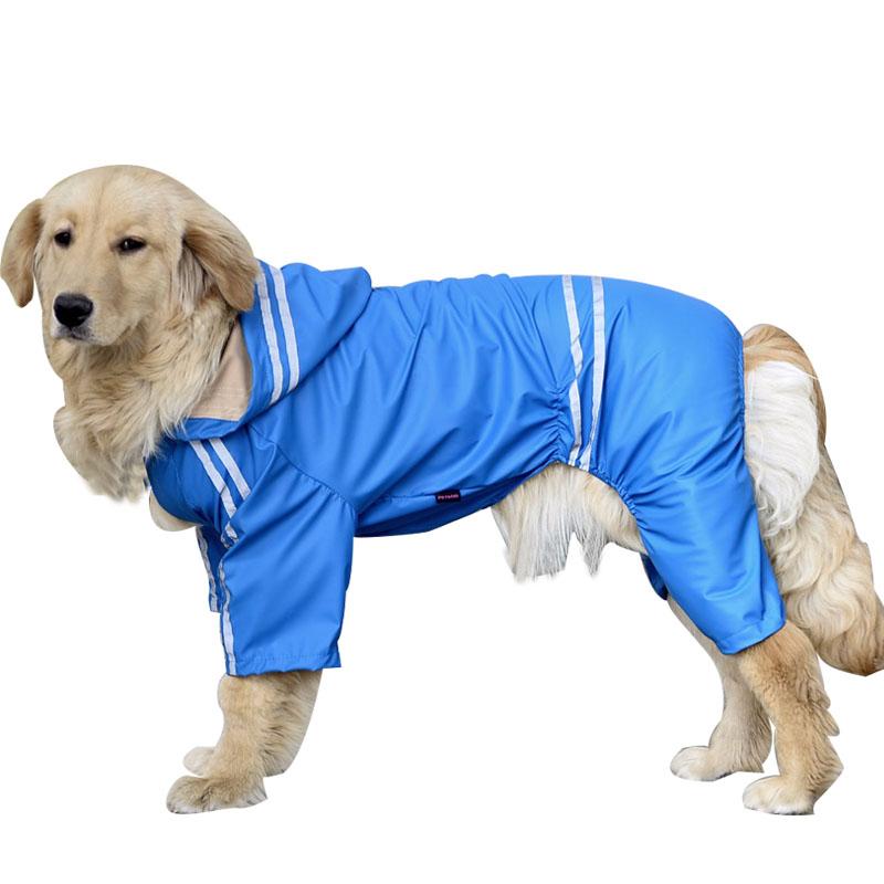 Large Dog Autumn Raincoat Jacket Clothes Pets Rain Coat Products Four Legs Big Dog Waterproof Poncho 3XL,4XL,5XL,6XL DCK132(China (Mainland))
