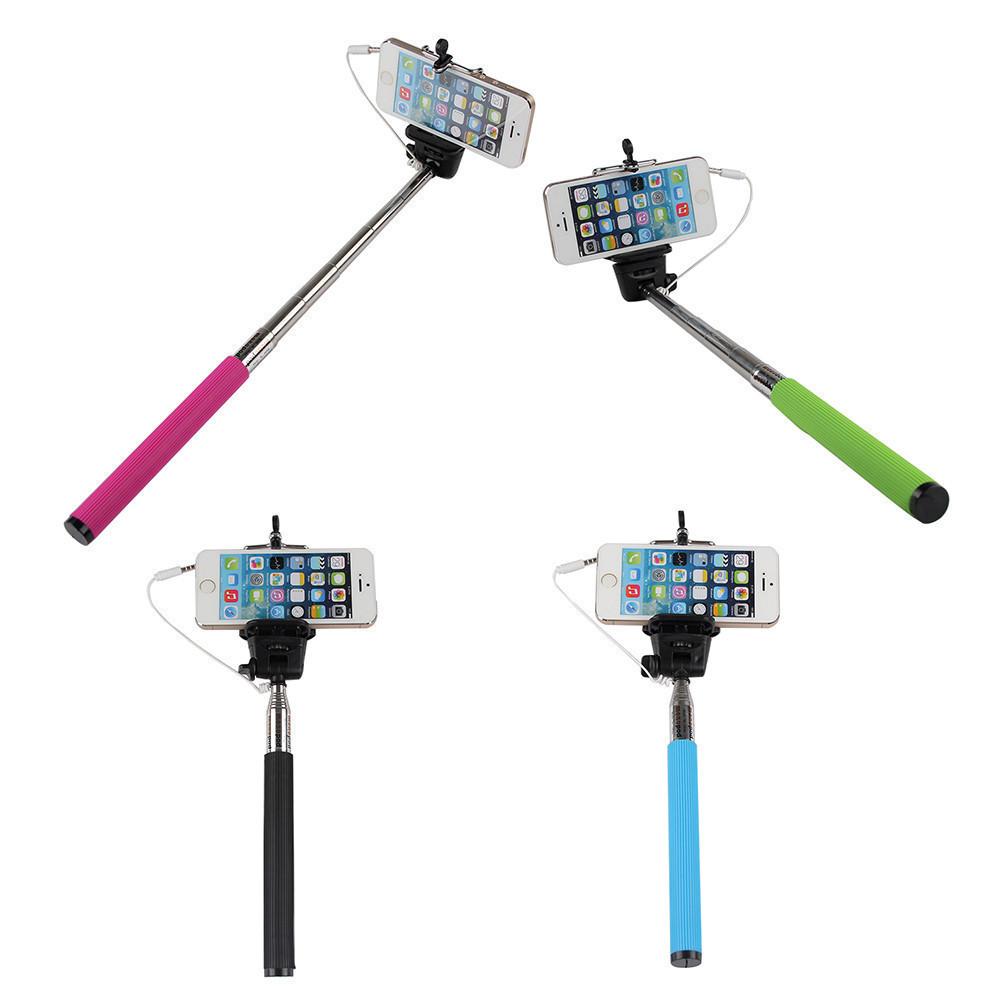 Universal Wired Phones Camera Selfie Stick Handheld Monopod Built in Shutter Mount Holder For Smartphone iPhone