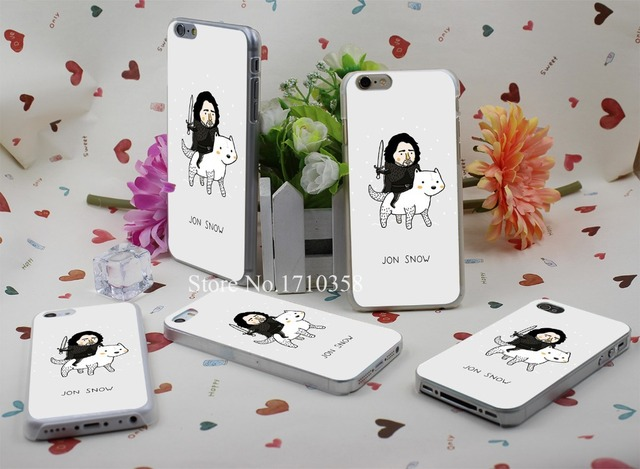 Jon Snow Case Cover for iPhone 4 4s 5 5s 5c 6 6s 6 plus s