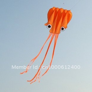 Free Shipping!!hot sale 5.5 m single Line Stunt Red Octopus POWER Sport Kite(China (Mainland))
