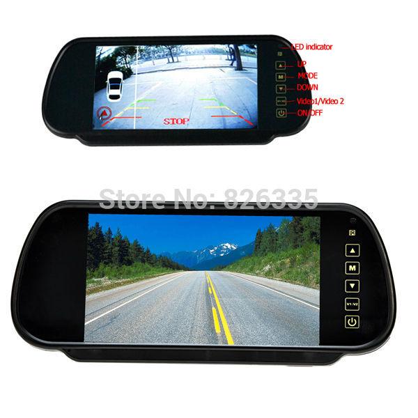 "Car Monitor 7"" TFT LCD Screen Car Rear View Backup Parking Mirror with with Night Vision Camera(China (Mainland))"
