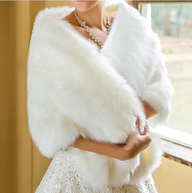 Hot Sale 2017 Cheap Fashion Wedding Jacket Bride Wraps Winter Wedding Dress Wraps Bolero Bridal Coat Accessories Wedding shawl(China (Mainland))
