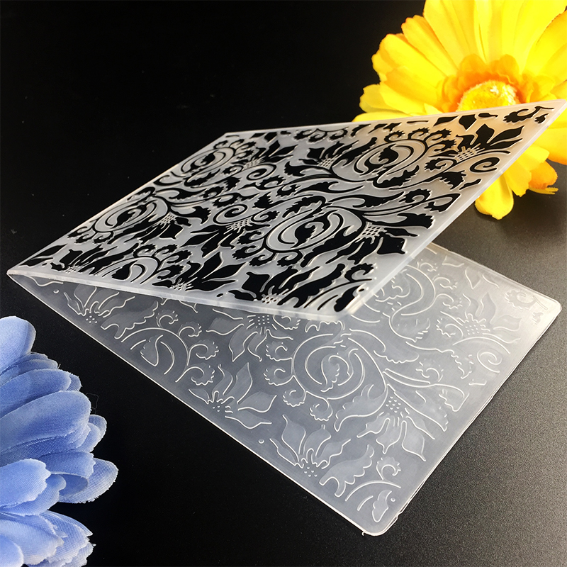 Cute Leaves Item01 DIY Scrapbook Bump Plastic Embossing Folder For Album Card Tool Plastic Template Embossing 10.6*14.5cm
