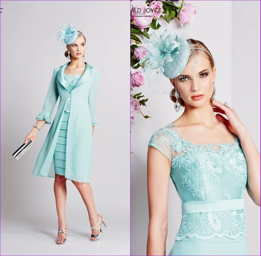 Mint Green Pleat Mother of the Lace Bride dresses Chiffon ...